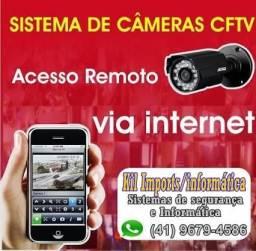 Kit cftv câmeras de segurança Instalado com acesso celular