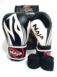 Kit de Boxe Naja: Bandagem + Protetor Bucal + Luvas de Boxe Extreme - 14 OZ - Adulto