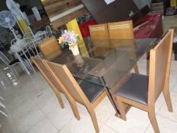 Mesa vidro 06 cadeiras