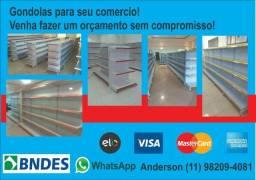 Gondolas Prateleira para Supermercado - Mercadinho - Pet Shop -Farmacia - Adega