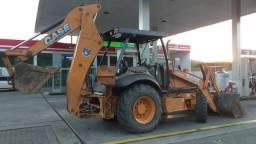 Retro retroescavadeira cat 416e case 580n 580 n m 580m 4x4 ano 2012