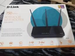 Roteador Wi-Fi router dual band D-Link 750mbps 200Metros de cobertura