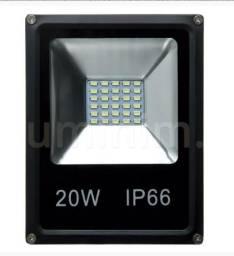Título do anúncio: Refletor Microled Slim 20w Branco Frio - Mega Infotech Distribuidora