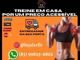 Caneleiras / Colchonetes / Barras / Anilhas / Halteres / Tudo para seu treino em casa
