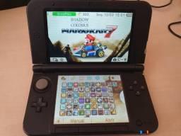 Nintendo 3DS XL com dezenas de jogos