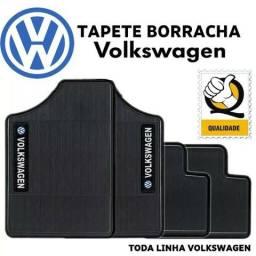 Tapete de Borracha Logo Volkswagen Jogo 4 Peças