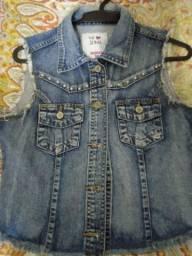 Colete jeans usado bem conservado tamanho 38