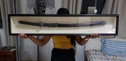 Espada Katana em Moldura