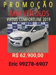 Virtus COMFORTLINE 2019 com mil de entrada Rafa Veículos Eric