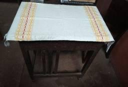 Caminho de mesa (algodão + tear manual)