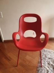 Jogo de 5 Cadeiras Etna (Vermelhas)