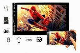 R$ 690 Multimídia MP5 valor instalado com câmera de ré e logotipo da montadora