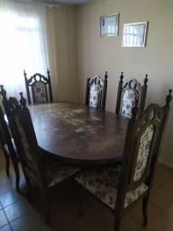 Título do anúncio: Mesa colonial com 06 cadeiras