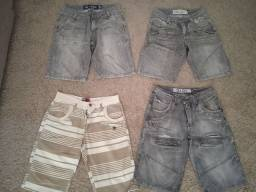 Lote de 4 shorts.