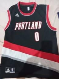 Camisa de basket original do portland Adidas tamanho m