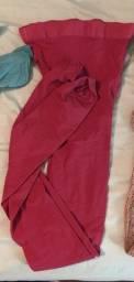 Meia calça vermelha Wolford Velvet tam M em santa cruz do sul