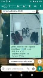 Lotes de sapato infantil masculino