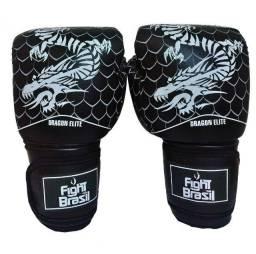 Luva Boxe/ Muay Thai Fight Brasil Dragon Elite + Brinde