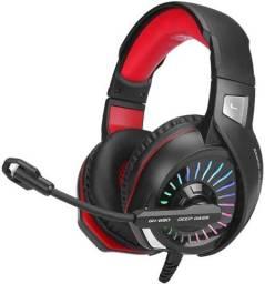Headset Gamer Xtrike-me GH-890, Microfone, Led RGB, Preto/Vermelho
