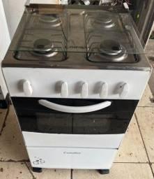 Título do anúncio: Fogão 4 bocas esmaltec conservado barato funcionando chamas e forno
