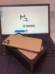 Iphone 11 pro max 64gb gold completo zerado sem detalhes