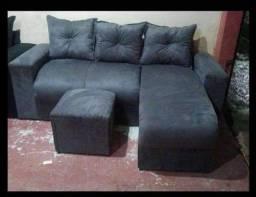 Lindos sofás no estilo Chaise com 3 e 4 Lugares A Pronta Entrega!