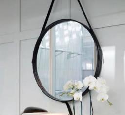 Espelho Adnet preto 45cm