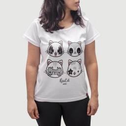 Camiseta Feminina Kiss Cat