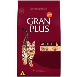 Promoção!!Ração GranPlus Frango e Arroz para Gatos Adultos - 10Kg
