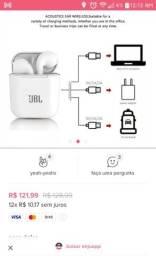 Vendo fone Bluetooth jbl de 121 r$ por 50r$ na cor rosa