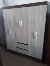 Guarda roupa casal 6 portas 3 gavetas novo