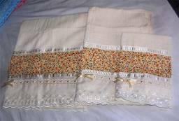 Título do anúncio: Jogo de toalhas Buettner bordadas 3 peças