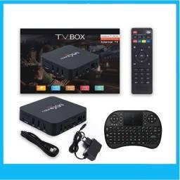 Título do anúncio: Tv Box 4k Wifi 5g 128gb + 8g +Mini Teclado Smarttv Android 11.1 Última Geração
