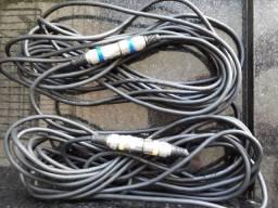 Dois cabos para microfone XLR Balanceado - 7 metros/cada