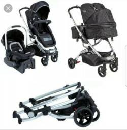 Carrinho Kiddo eclipse com bebê conforto e base de carro