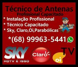 Instalação e Serviços Técnicos de Antenas