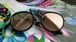 1 Óculos Dior espelhado rose novo