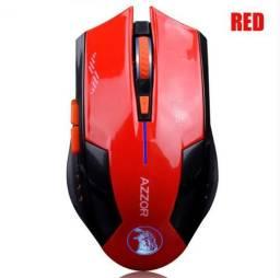 Mouse Gamer Azzor 2400 Dpi Bateria Lítio Recarregável S/ Fio