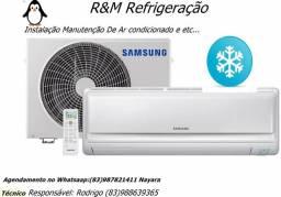Instalação e manutenção de ar condicionado e etc.