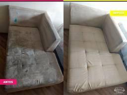 Limpeza e impermeabilização de sofá e estofados