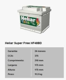 Título do anúncio: Bateria Para Carro Heliar de 48 AH com 2 Anos de Garantia - R$300,00