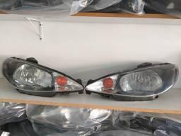 Farol Peugeot 206 Foco Simples Máscara Negra Original comprar usado  Curitiba