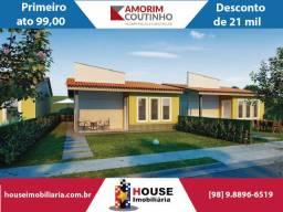 Cidade Jardim. Feirão Amorim Coutinho, casas com 2 e 3 quartos, 2 banheiros