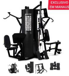 Estação de Musculação Kikos 518Bk com 65 Exercícios