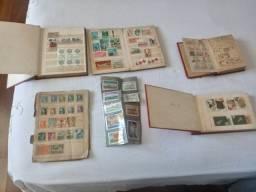 Coleção de Selos - muitos selos raros