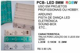 Pcb de led 5mm rgbw - Arduino - pista de dança-sound box etc.