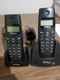 Telefone sem fio c/ ramal Intelbras