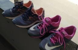 Tênis Nike e Asics originais. Tamanho 38