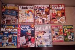 9 Revistas de pintura em madeira