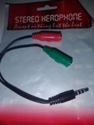 Adaptador de microfone e fone